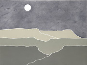 Peter Keefer Taos Dusk Screenprint Signed And Numbered In Pencil
