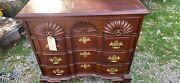 Link Taylor Heirloom Solid Mahogany Chippendale Style Shell Carved Dresser Chest
