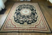 Vintage Antique French Aubusson Style Needlework Tapestry Carpet Rug