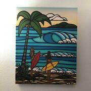 Heather Brown Girls Day Art Matted Prints Hawaii Genuine Free Shipping From Jpn