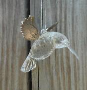 Clear Acrylic With Silver Wings Hummingbird Christmas Ornament Silver Tree
