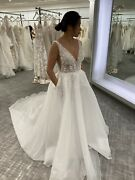 Brand New With Tag Wedding Dress Size 8 A Line Sample Sale