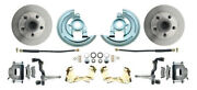 64-72 Gm A Body Front And Rear Power Disc Brake Kit W/ 8 Dual Chrome Booster