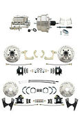 59-64 Gm Full Size Front And Rear Performance Disc Brake Kit Black Calipers