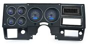 1973-87 Chevy Pickup Vhx System Carbon Fiber Style Face Blue Display