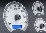 1978-88 Oldsmobile Cutlass Vhx System, Silver Alloy Style Face, Blue Display