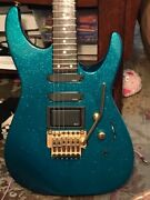 Usa Made Jackson Dinky Teal Sparkle Emgs Floyd Gold Hardware W/ Youtube Video