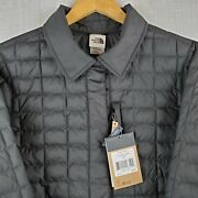 New The Size Xl Womens Thermoball Snap Quilted Poly Jacket Coat Nwt