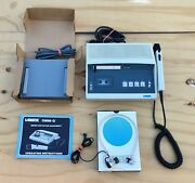 Vtg. Lanier P-90 Microcassette Dictation Transcriber W/ Foot Control And Headphone