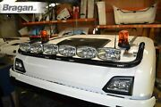 To Fit Scania New Gen R And S 2017+ Normal Cab Roof Light Bar Black + Leds + Spots