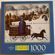 Jigsaw Puzzle Mb 1000 Pc Charles Wysocki 4679-24 Winter Bouquet Complete