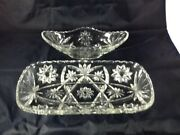 Anchor Hocking Star Of David Clear Glass Serving Bowls Pressed Glass 2