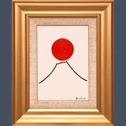 Atsushi Gandeaux Sun And Mt. Fuji Oil Painting Size Sm From Japan F/s