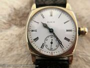 Elgin Immaculate Early Porcelain Roman Dial, Manual, 32x39mm