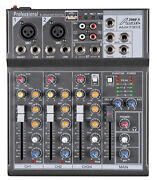 Audio2000s Amx7303 4-ch.audio Mixer With Usb And Dsp Processor-mr