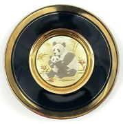 The Art Of Chokin, Dynasty Gallery, 24k Gold Collector's Plates Pandas Eating