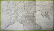 North And Central Italy Original Copperplate Map Cauchard Prowler 1785