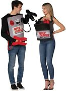 Hilarious Battery And Jumper Cables Couple Costume Adult Electric Spark Funny 3d