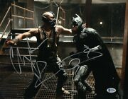 Christian Bale Tom Hardy Signed 11x14 And039batmanand039 Authentic Auto Bas Beckett Coa 1