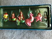 Disney Ariel And Friends Christmas Hand Blown Glass Ornaments The Little Mermaid