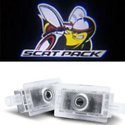 No Drill Led Door Shadow Projector Logo Lights For Dodge Charger Scat Pack 06-19
