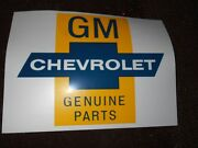1950and039s 1960and039s Chevrolet Dealership Gm Genuine Parts Bow Tie 8 Inch Decal Sticker