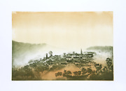 Hank Laventhol Mountain Village Aquatint Etching Signed And Numbered In Penci