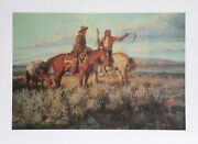 Joe Beeler Seeking Directions Lithograph Signed And Numbered In Pencil