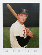 Armand Lamontagne, Ted Williams 2, Lithograph, Signed And Numbered In Pencil