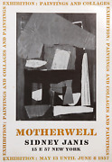 Robert Motherwell, Exhibition Paintings And Collages At Sidney Janis, Poster