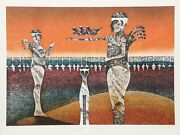 Lynn Sweat, Offering, Lithograph, Signed And Numbered In Pencil