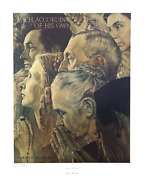 Norman Rockwell Freedom Of Worship Collotype Poster