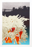 Michael Knigin, East River Dance, Screenprint, Signed And Numbered In Pencil