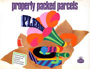 Dick And Pamela Negus Gpo - Properly Packed Parcels Please Gramophone Poster