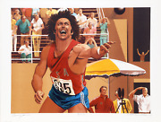 William Nelson Shot Put From The Bruce Jenner Decathlon Suite Lithograph Sign