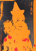 Ford Beckman, Neon Clown Orange With Red, Screenprint, Signed Verso
