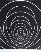 Clarence Holbrook Carter, Concentric Space Silver, Screenprint On Foil Paper,