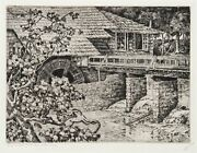 Walter Ronald Locke, The Old Sawmill, Etching, Signed And Titled In Pencil