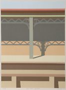 Saul Chase, Harlem Division Line, Screenprint, Signed And Numbered In Pencil