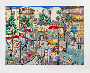 Linnea Pergola Left Bank Screenprint Signed And Numbered In Pencil