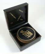 Antique Cars Coaster Set Of 8 Leather/cork Olds Buick Rolls Dodge W/box 3.125