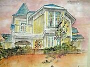Debbi Chan Saccomanno Hand Painted Watercolor Scroll The Thomas Kirby House