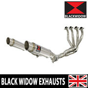 Z1000 Z1000 R 10-20 4-2 De Cat Exhaust System Gp Round Stainless Silencers 230sr