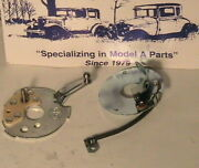 1928-1931 Model A Ford Distributor Upper And Lower Plate Set. Original Type.