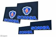 Mud Flaps Blue 4 Piece To Fit Scania Trucks Uv Rubber Front And Rear Accessories