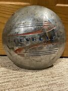 Vintage Antique Chevrolet Chrome Hubcap - 1941-48 Stainless Steel - Chevy