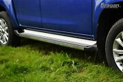 To Fit 2016+ Isuzu D-max Polished Aluminium Silver Side Steps Running Boards