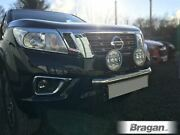 To Fit 2016+ Nissan Navara Np300 Front Bumper Light Bar + 7in Round Led Drl Spot