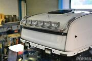 To Fit Man Tga Xlx Cab Stainless Steel Roof Light Bar Style B + Rectangle Spots