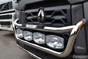 To Fit Renault T Range Long Haul Steel Grill Light Bar Type C + Step Pad +led